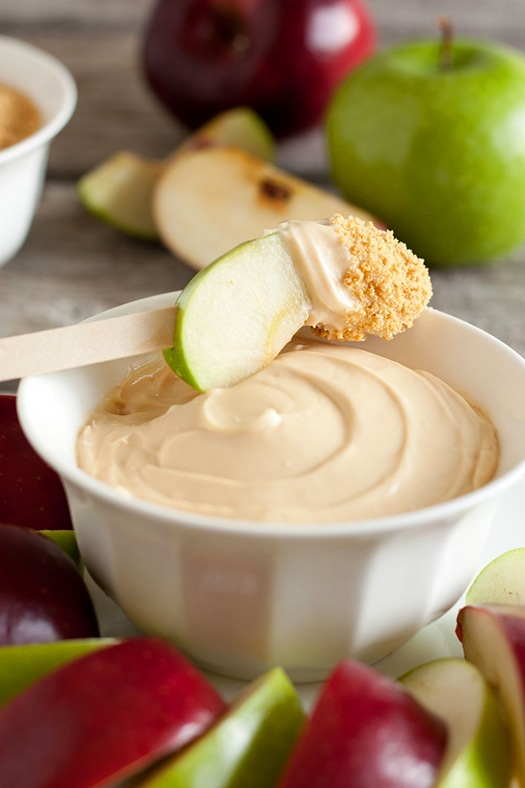 Caramel Cheesecake Apple Dip | Cooking Classy