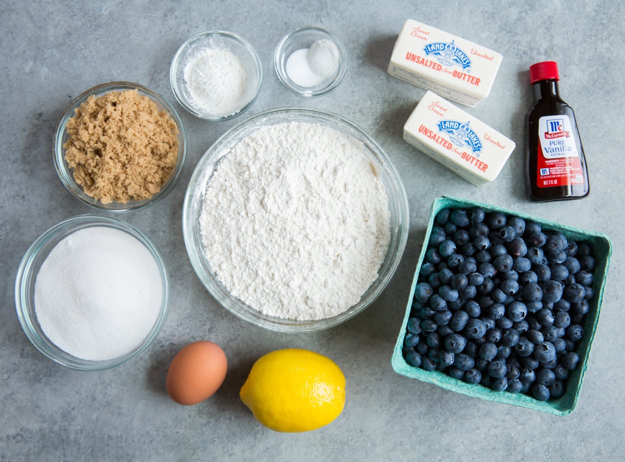 Blueberry Crumb Bar Ingredients