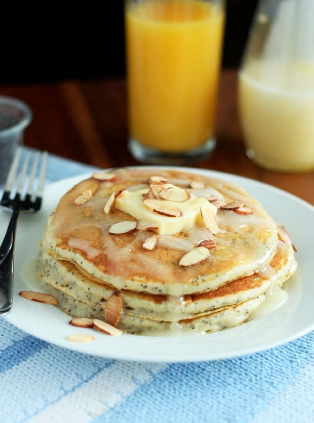Almond Poppy Seed Pancakes