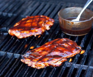 Grilled Chicken with Balsamic Barbecue Sauce