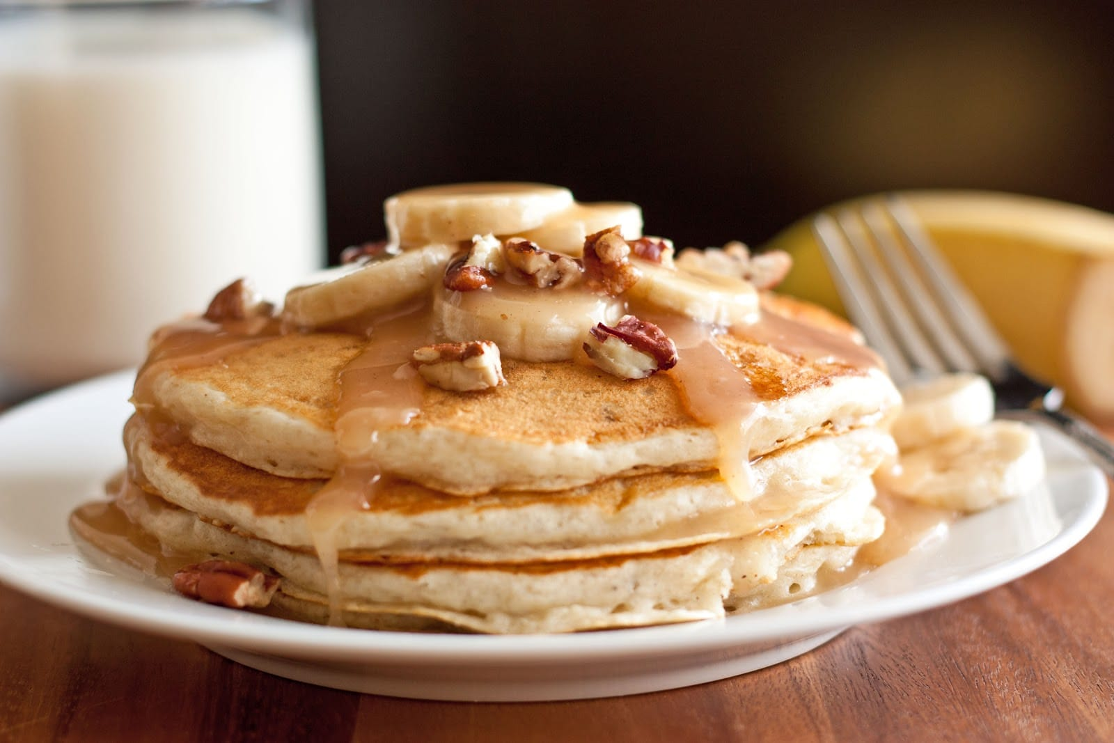 Banana Nut Pancakes Recipe — Dishmaps