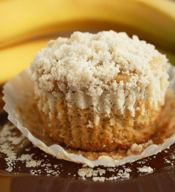 Banana Crumb Muffins Recipe — Dishmaps