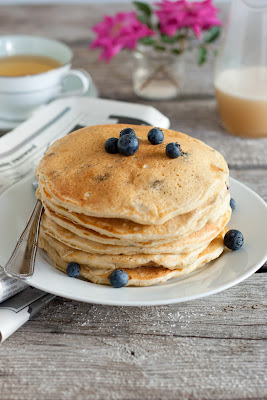 Blueberry Buttermilk Pancakes and Vanilla Cream Syrup