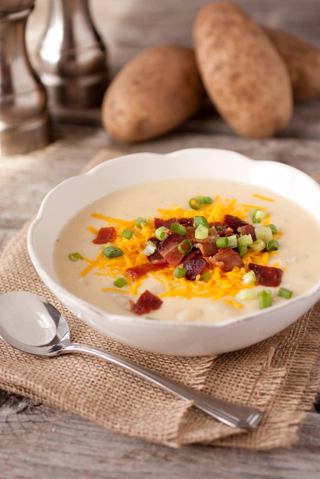 Cheesy Bacon Ranch Potato Soup - Cooking Classy