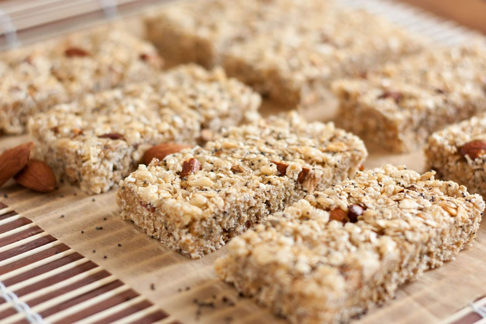 Chewy Almond Poppy Seed Granola Bars (Lemon Poppy Seed variation too ...