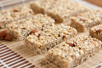 Chewy Almond Poppy Seed Granola Bars (Lemon Poppy Seed variation too)