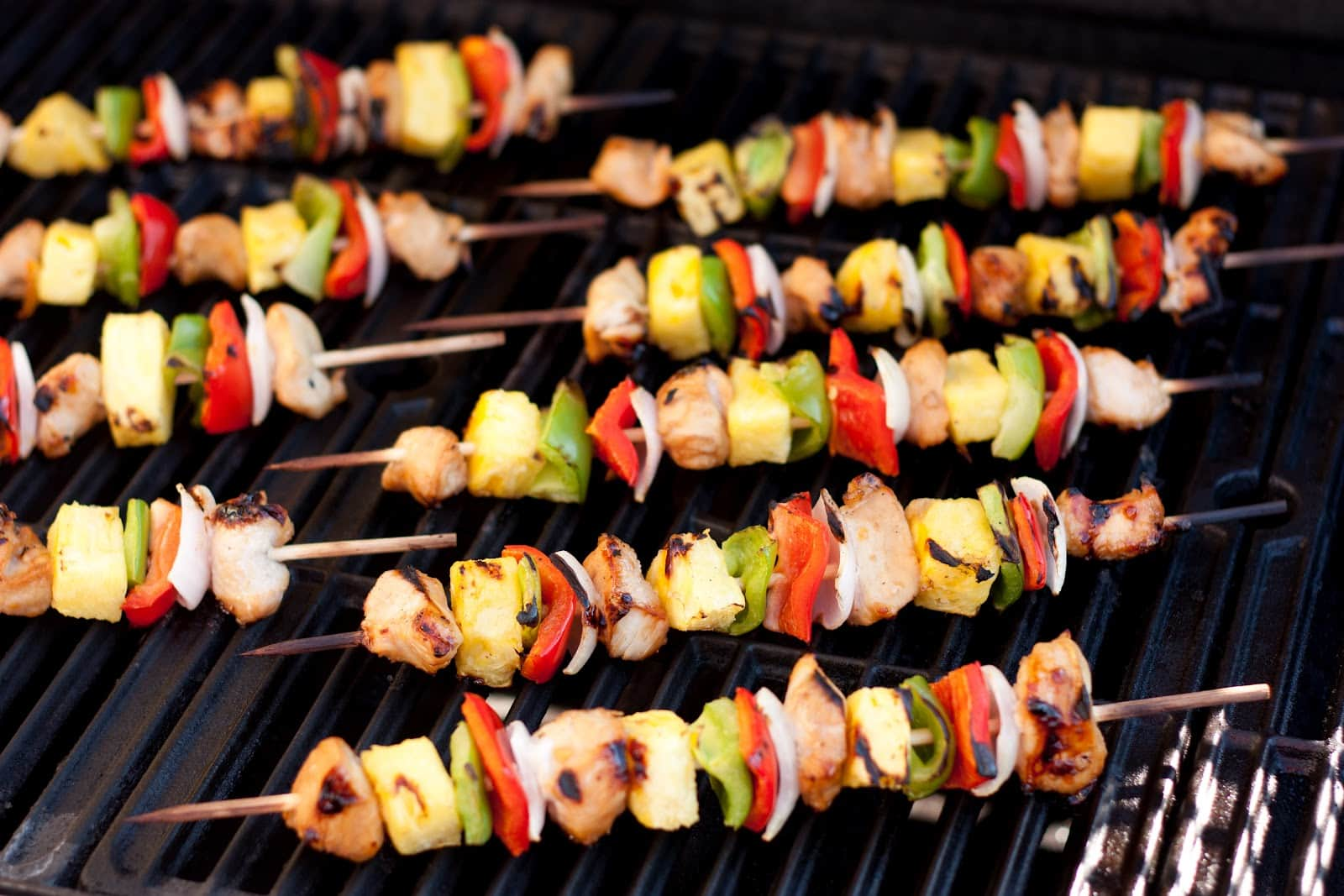 How long do i grill chicken kabobs - Grilled Chicken Teriyaki Kebobs