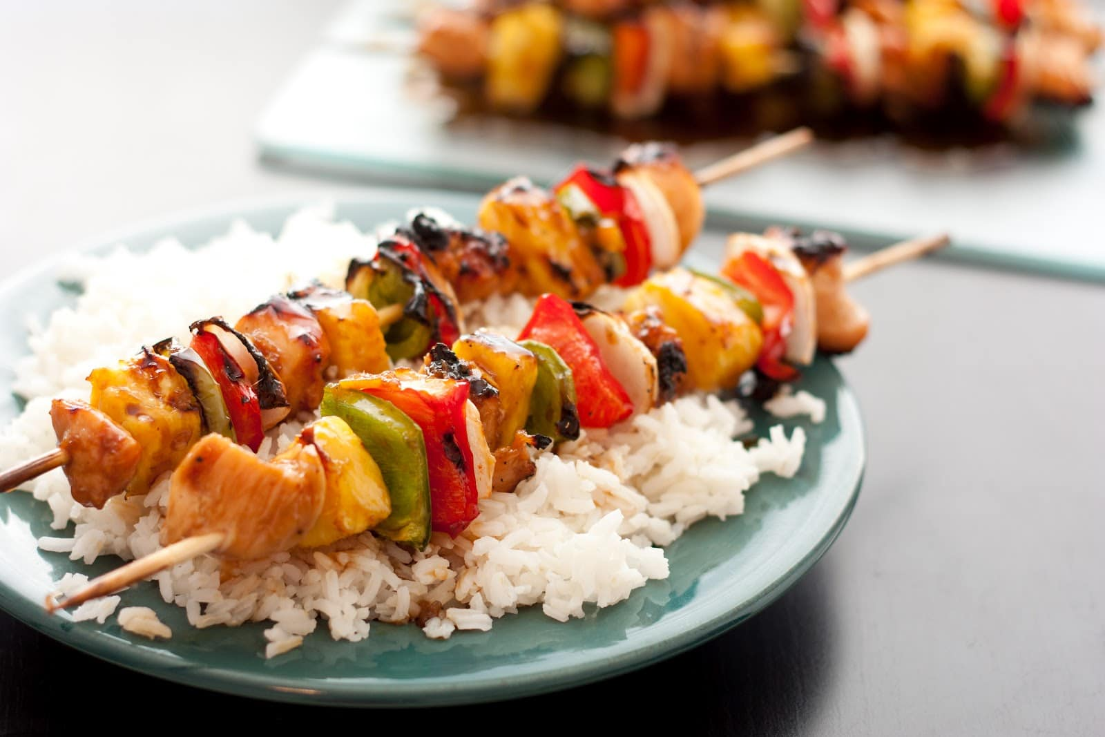 Grilled Chicken Teriyaki Kebobs - Cooking Classy