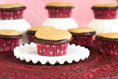 Moist Lightened Up Chocolate Cupcakes with Penuche Frosting