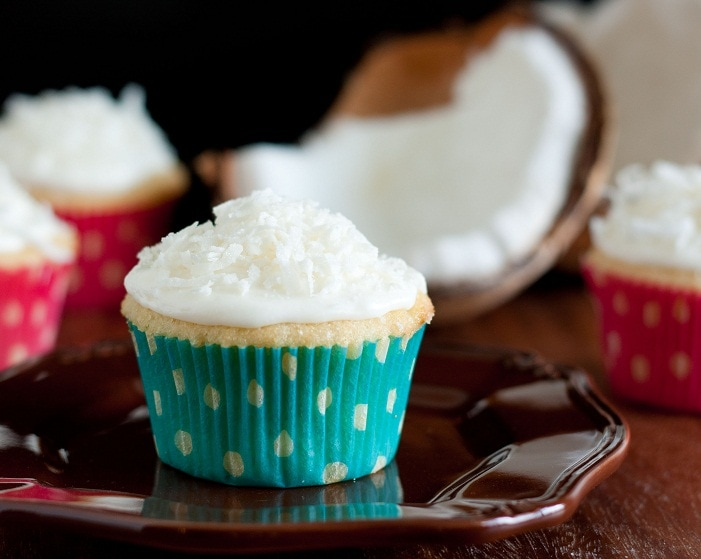 Coconut Cupcakes with Coconut Frosting - Cooking Classy