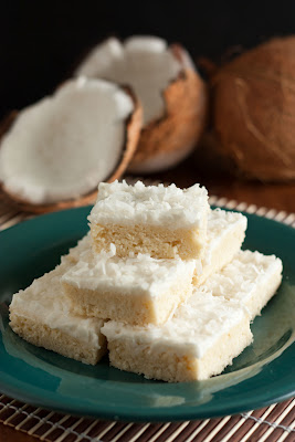 Coconut Sugar Cookie Squares