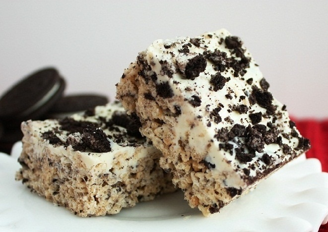 Cookies and Cream Rice Krispie Treats - Cooking Classy