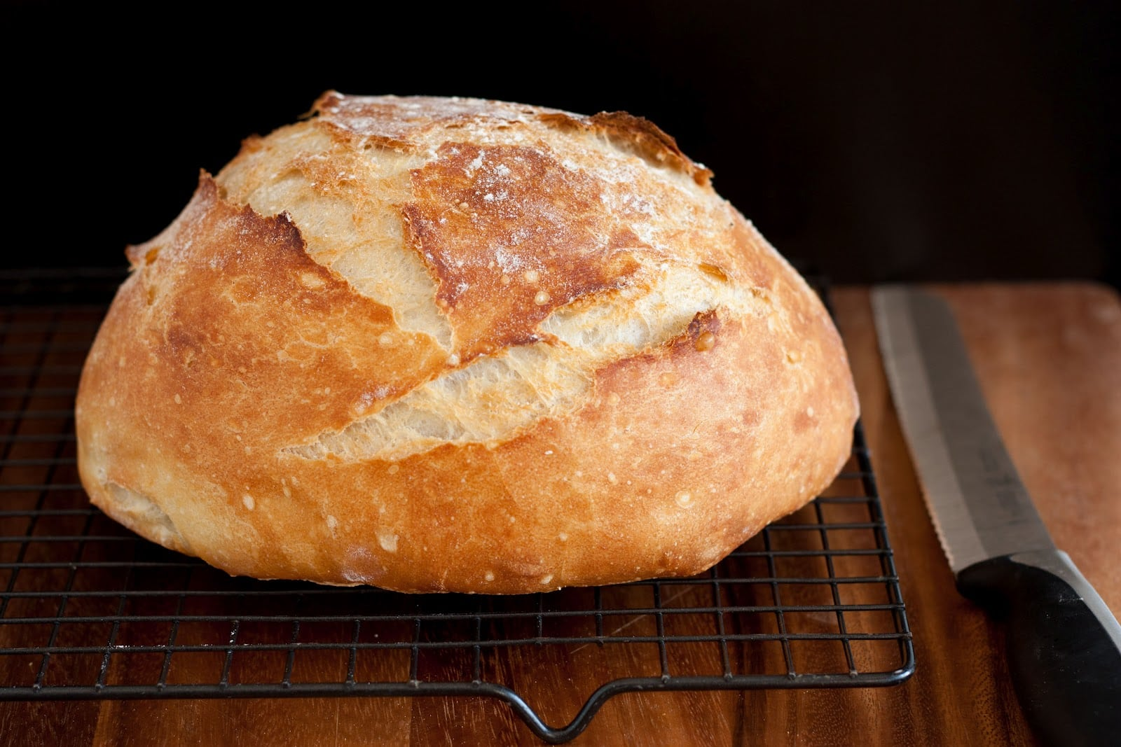 Crusty Rustic Bread {It's No Knead!} - Cooking Classy