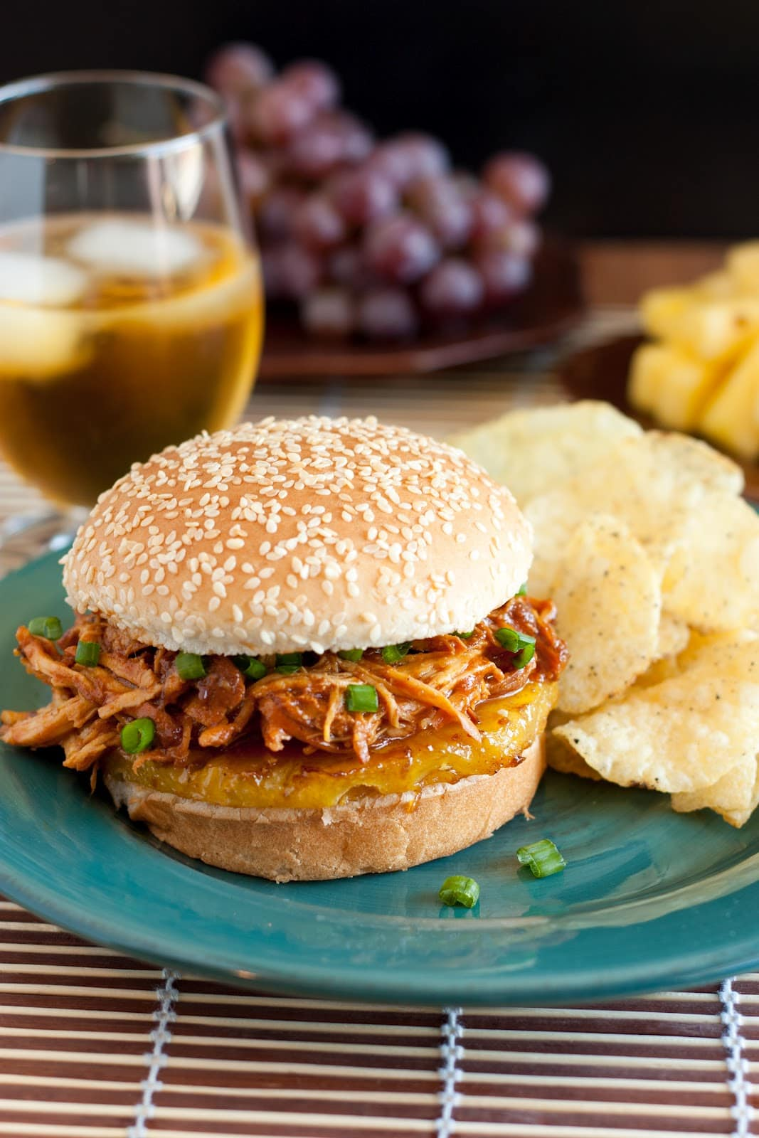 Hawaiian BBQ Pulled Chicken Sandwiches (Slow Cooker Recipe) - Cooking ...