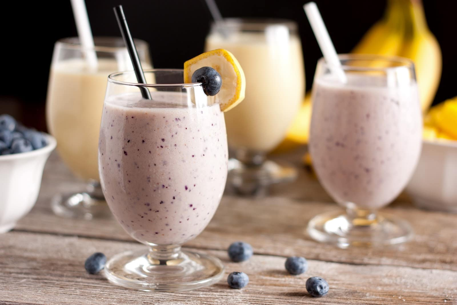 Healthy Protein Smoothies Blueberry Banana Pina Colada Cooking Classy