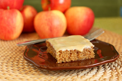 Maple Apple Bars with Maple Cream Cheese Glaze