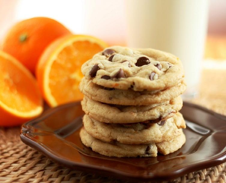 Orange Chocolate Chip Cookies (tastes just like an Orange Milano, but ...