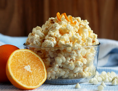 Orange Creamsicle Popcorn