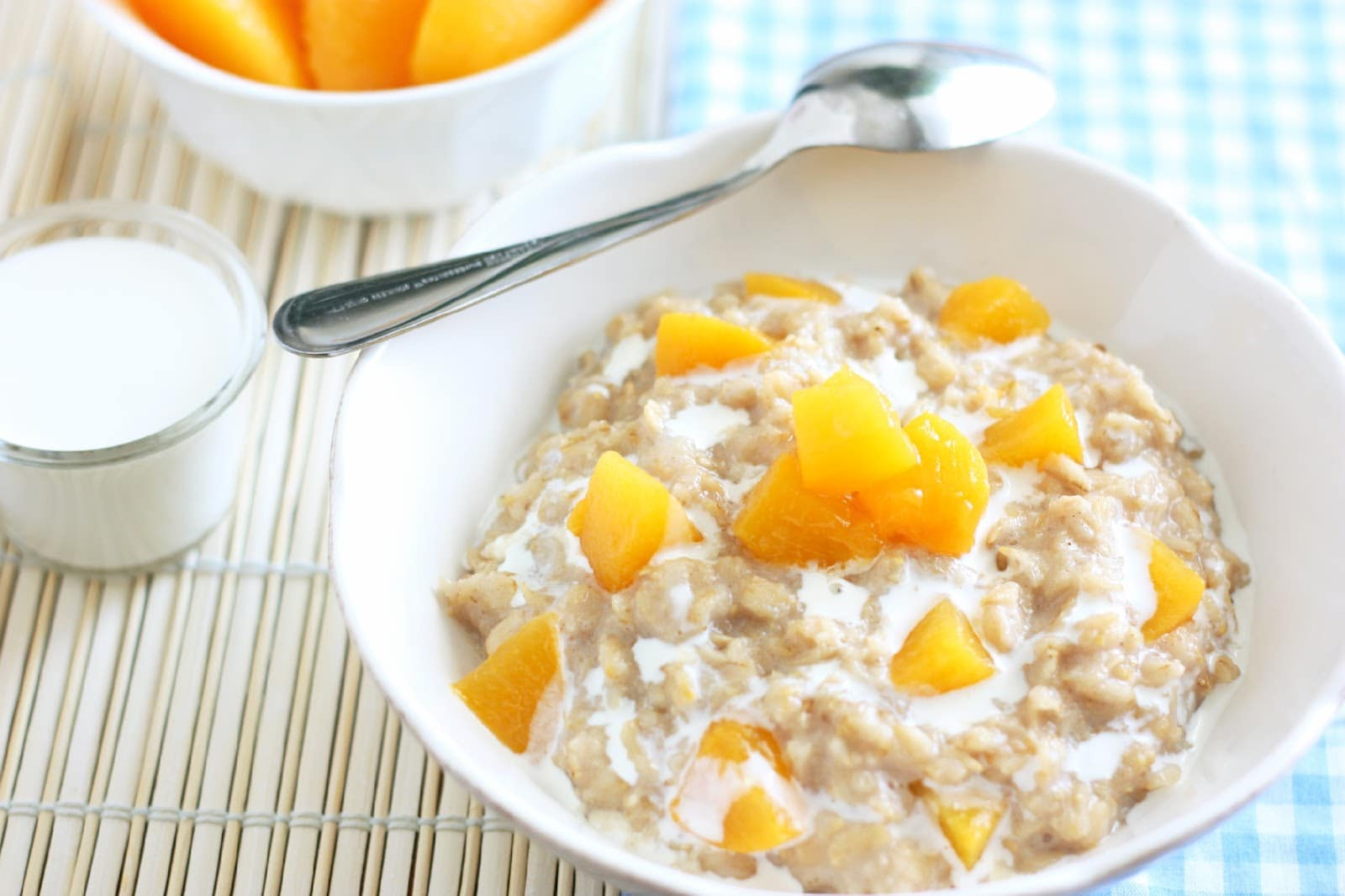peaches and cream oatmeal cooking classy