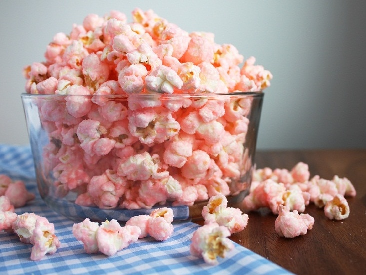 Old Fashioned Pink Popcorn Cooking Classy