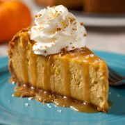 pumpkin+cheesecake+with+salted+caramel+sauce