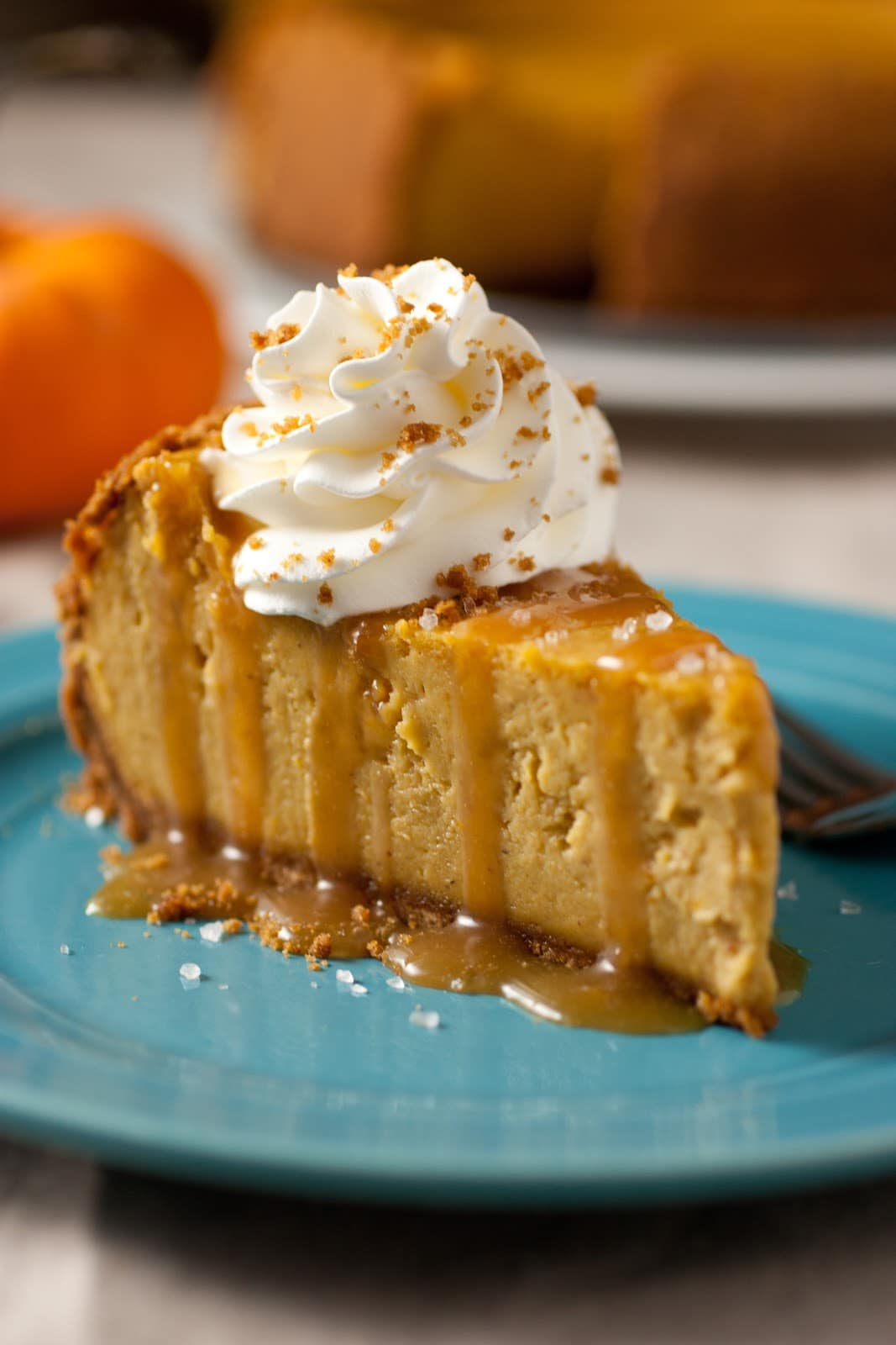 Pumpkin Cheesecake With Salted Caramel Sauce Cooking Classy