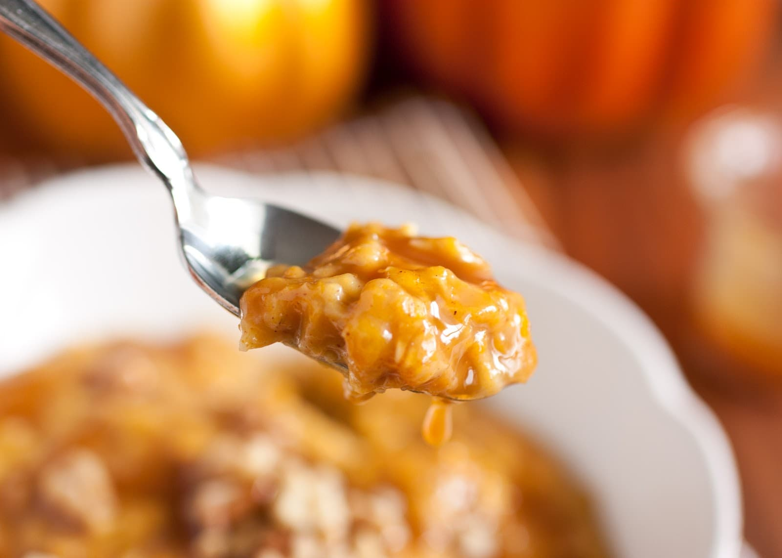 Pumpkin Pie Oatmeal with Caramel Sauce - Cooking Classy