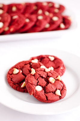 {Updated} Red Velvet White Chocolate Chip Cookies