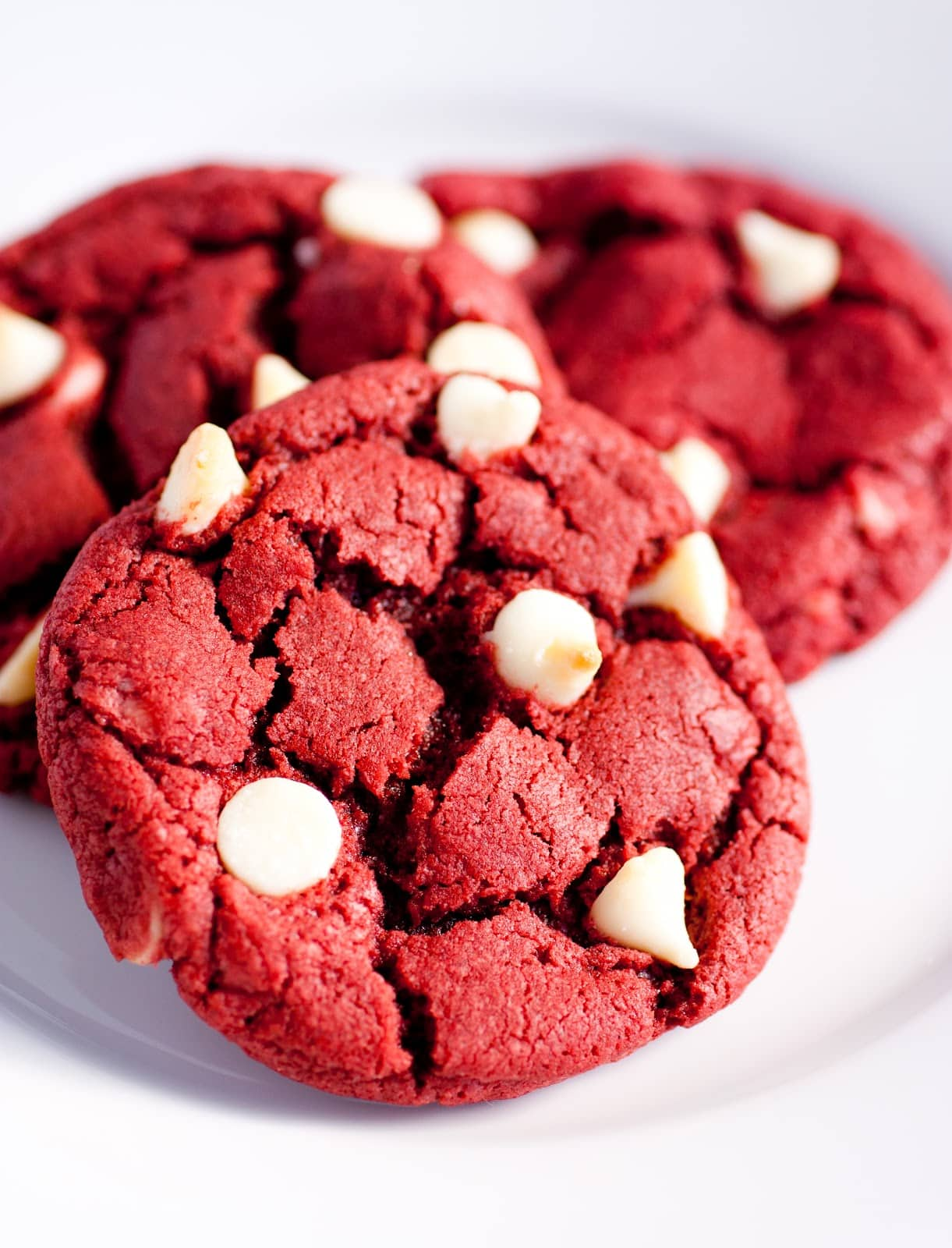 Red Velvet Cake Cookies With White Chocolate Chips
