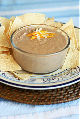 Cheesy Refried Bean Dip