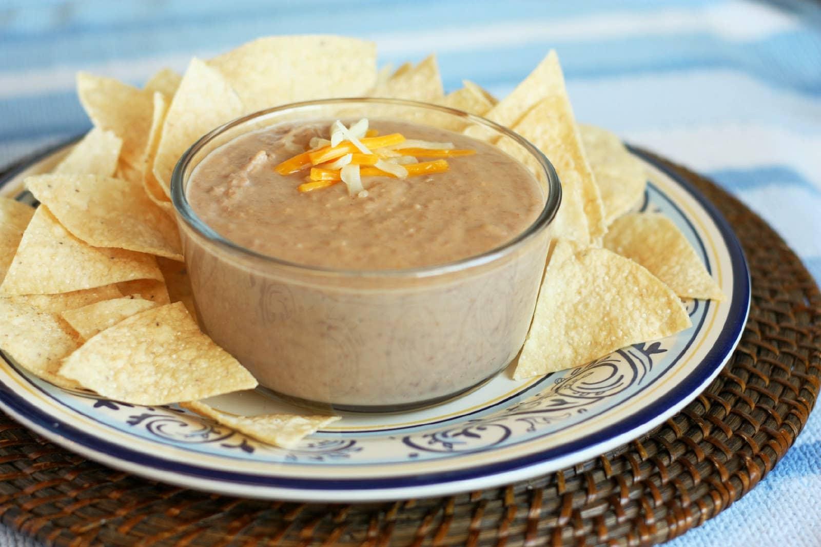 Warm Cheesy Bean Dip | Valerie's Kitchen |Warm Bean Dip Recipe