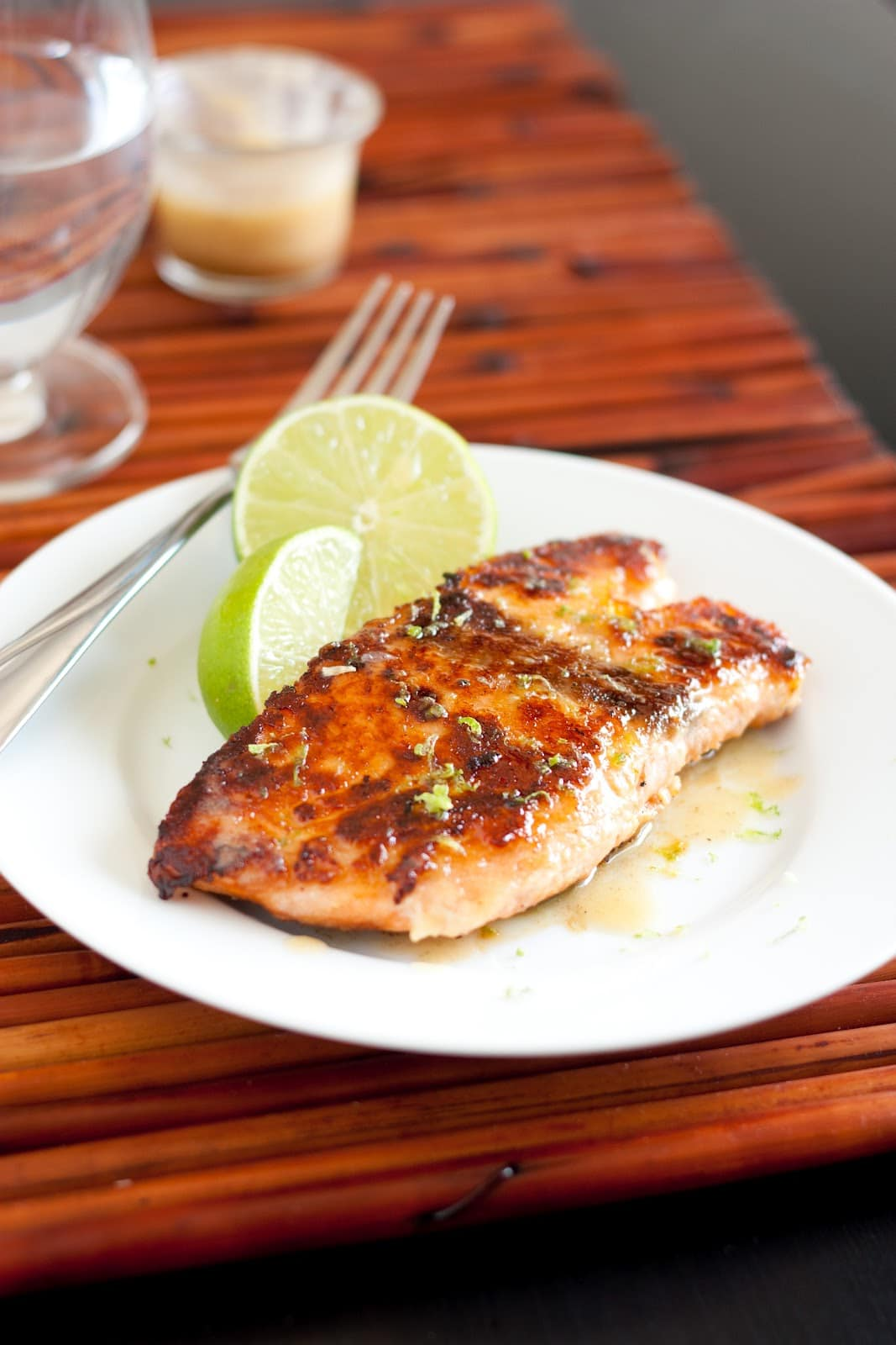 lime sauce grilled pineapple and banana sauce with honey and lime a ...