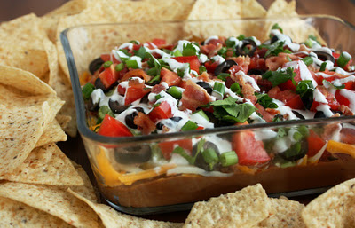 9 Layer Bean Dip (with Bacon!)