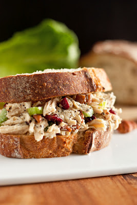 Easy Chicken Salad Sandwich With Celery and Cranberries