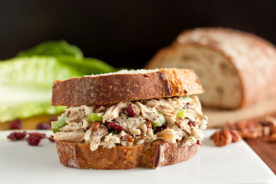 Best Chicken Salad Sandwich on Cutting Board