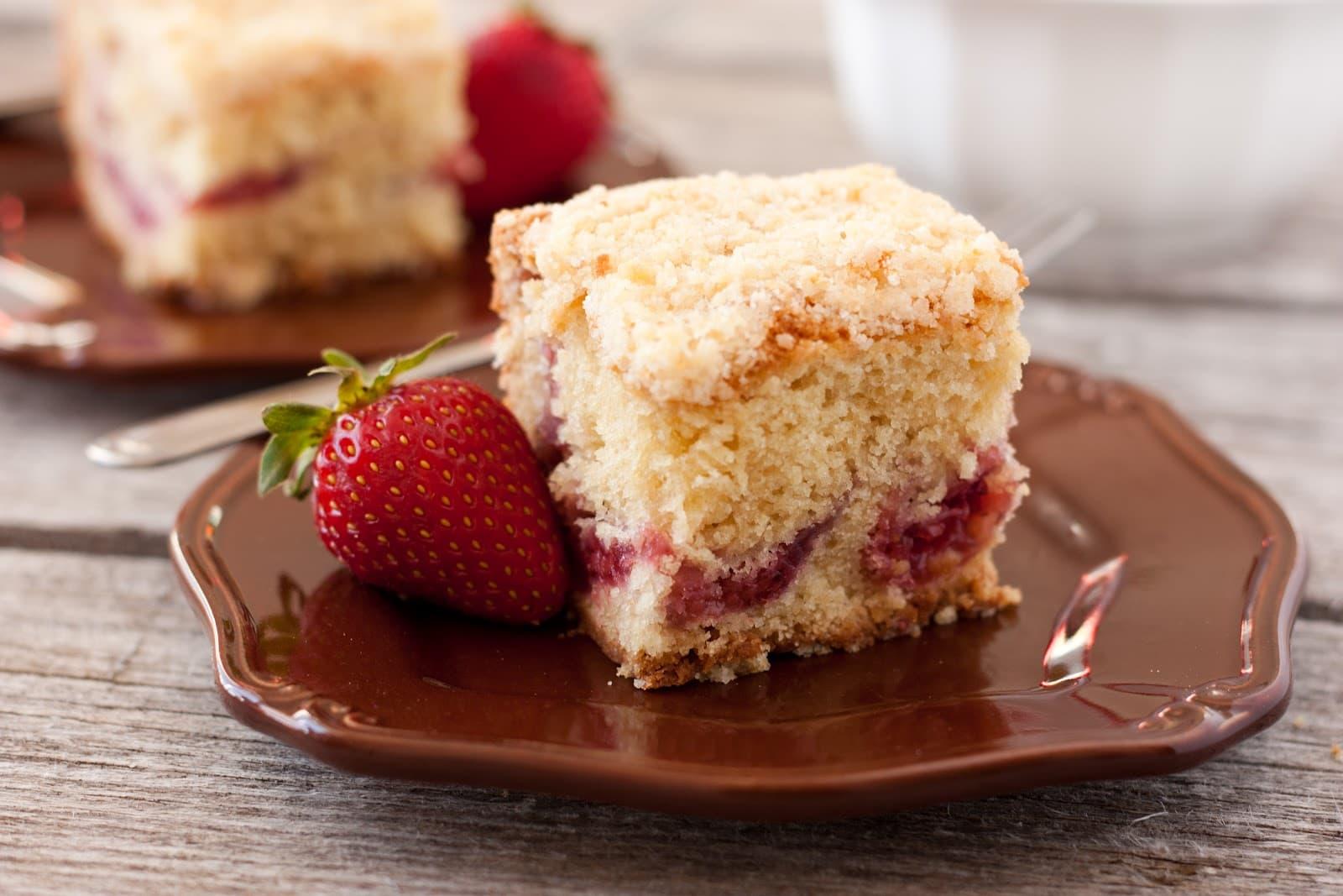Strawberry Streusel Coffee Cake