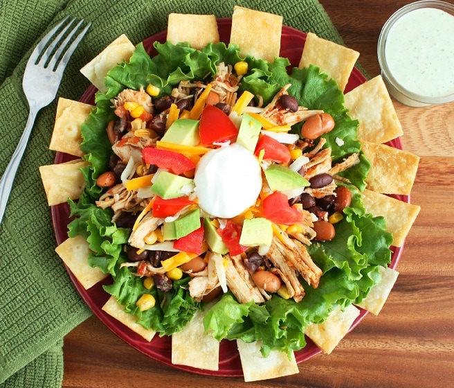 Taco Salad and Cilantro Lime Ranch - Cooking Classy