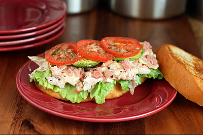 Toasted Turkey and Ham Sandwich