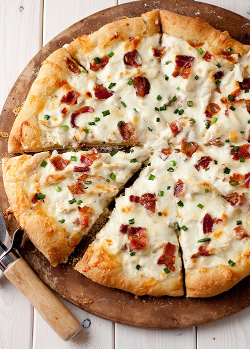 Chicken Alfredo Pizza | Cooking Classy
