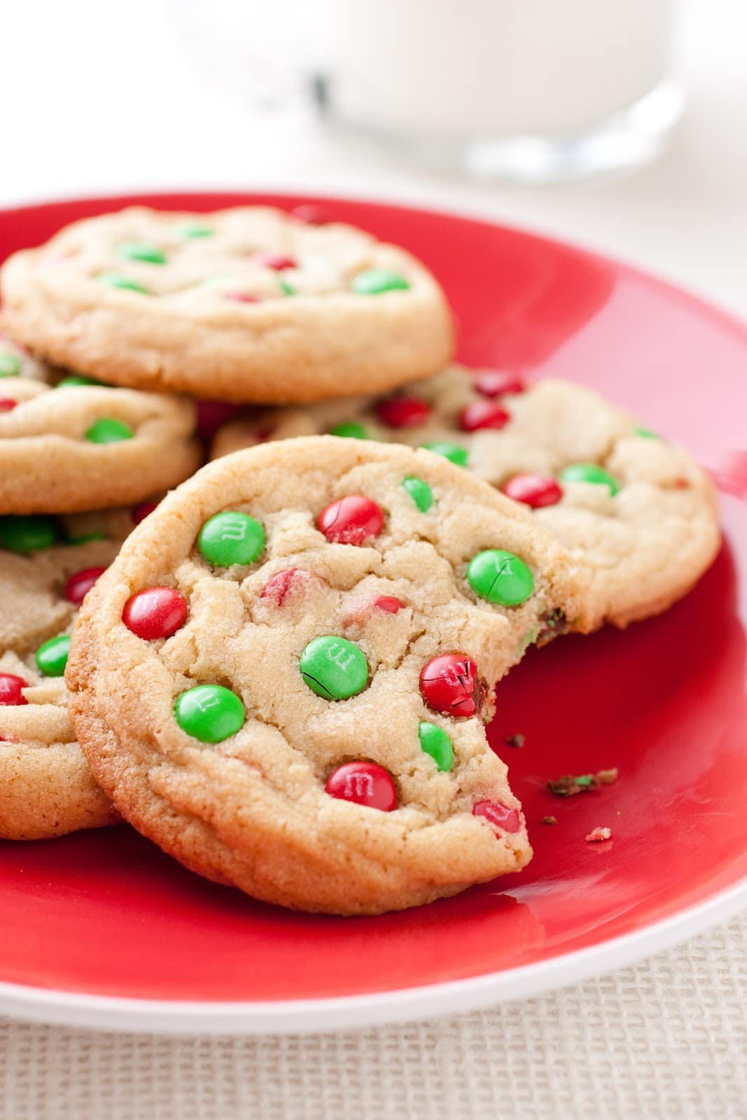 M&M Cookies {Christmas Style} - Cooking Classy