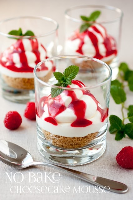 no bake cheesecake moussetext