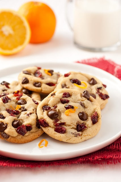 Chocolate Chip Cookies with Orange and Cranberry