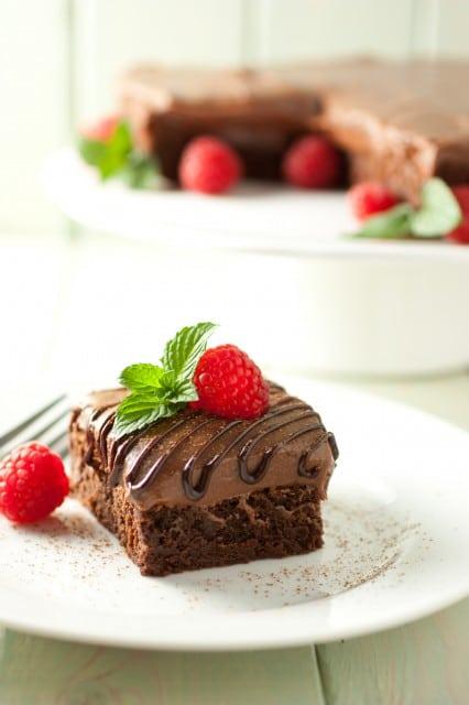 raspberry truffle brownies8