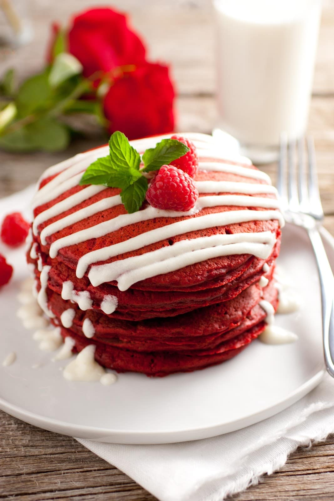 ... cream cheese pancakes red velvet pancakes with cream cheese topping