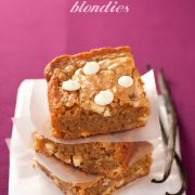 Triple Vanilla Blondies. Loaded with vanilla goodness