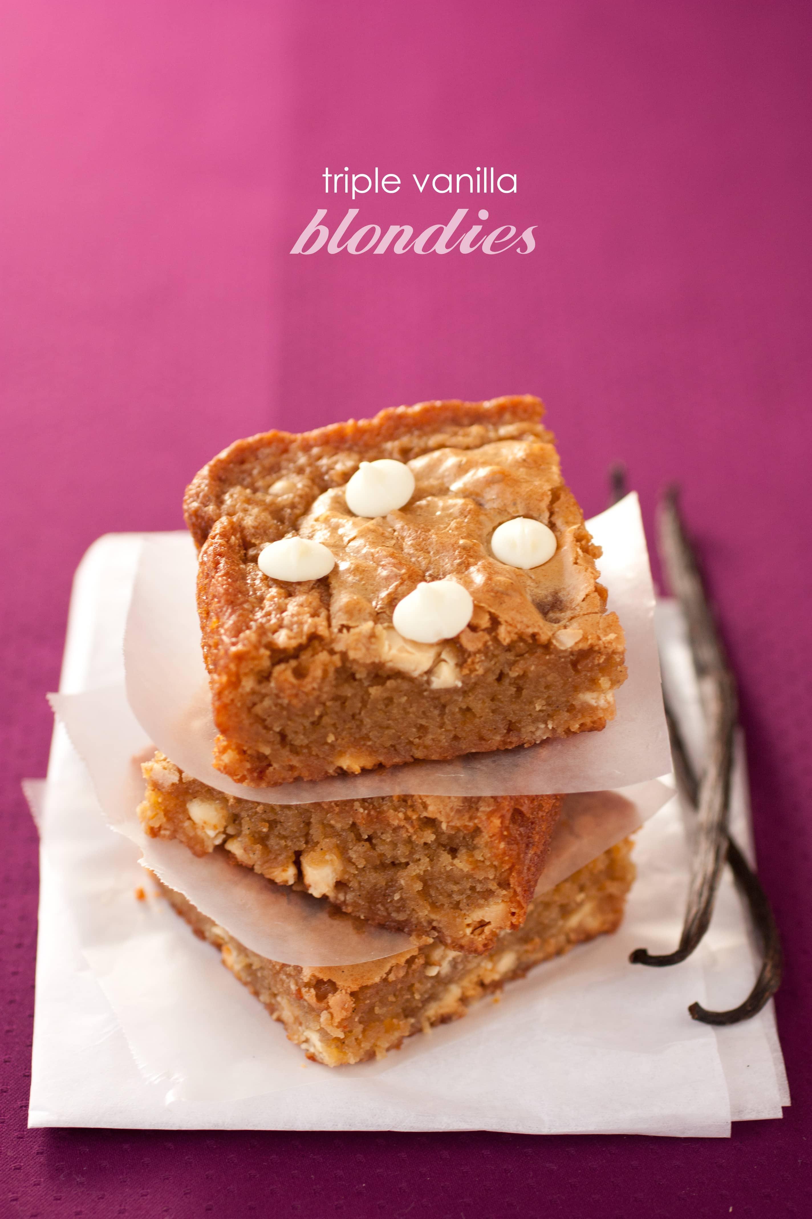 Triple Vanilla Blondies Cooking Classy