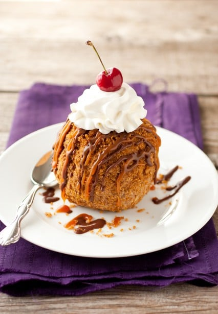 how to cook deep fried ice cream