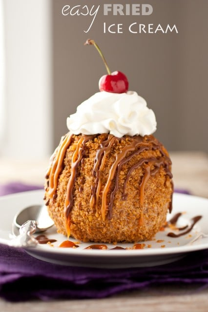 Fried Ice Cream Easy fried ice cream