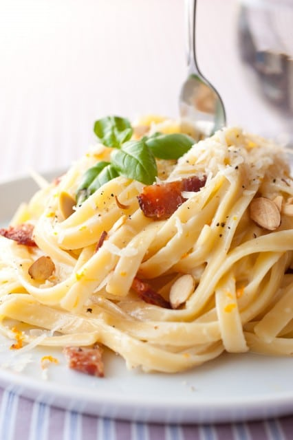 fettucine with bacon and orange2
