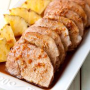 island pork tenderloin. easy and delicious